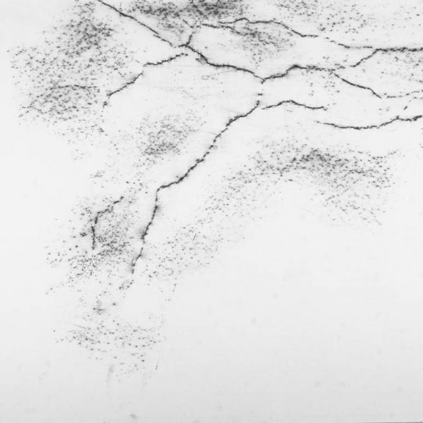 Untitled (Cracks), 2009. Graffite on paper. 50 × 65 cm