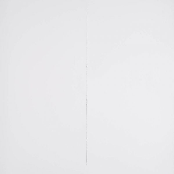 Sobre o que não se contém, 2013. Papel sobre tinta. 100 x 70 cm.