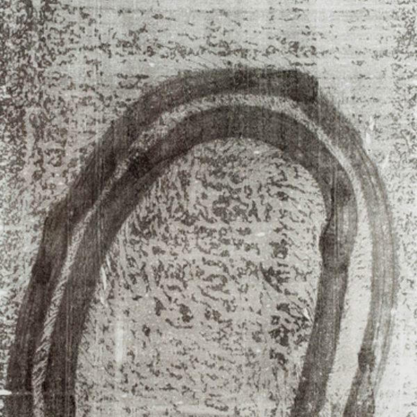 Caminho (10.03.15,4:15pm), 2015. Monotipia sobre papel japonês 230 x 100 cm