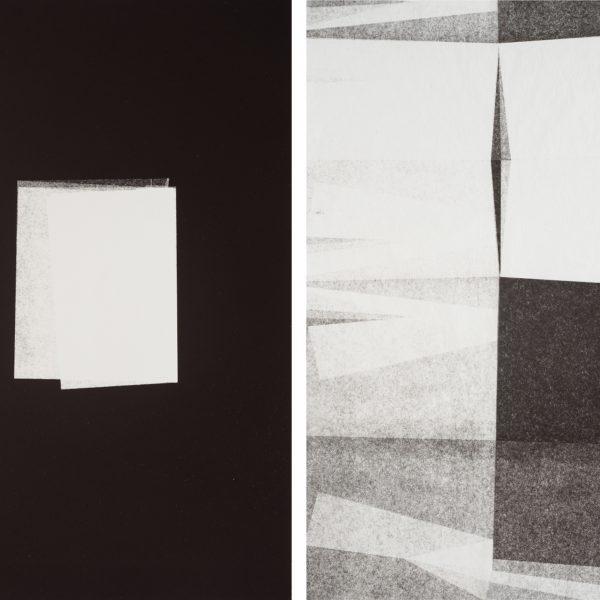 Dobra, 2015. Monotipia sobre papel. Díptico. 51 x 76 cm cada.