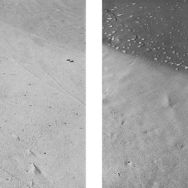 Untitled (Attempt to note the limit of the sea), 2009. Inkjet print on cotton paper. Diptych. 85,7 x 63,5 cm