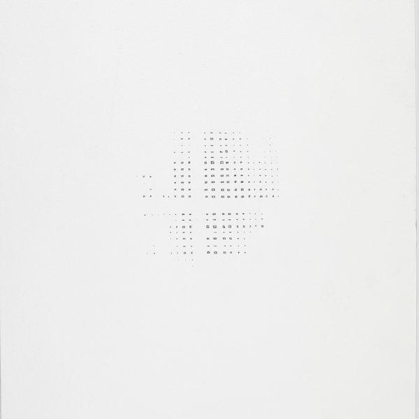 Vazio contido, 2017. Desenho, lápis sobre papel, 50 x 32 cm.