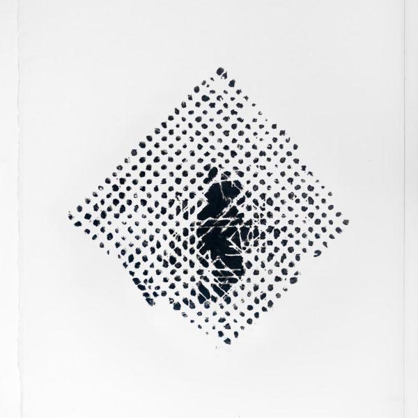 Recostura, 2019. Bastão a óleo sobre papel de algodão. 70 x 50 cm